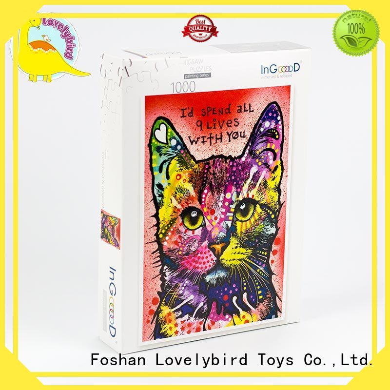 Lovelybird Toys custom best wooden puzzles frame adult