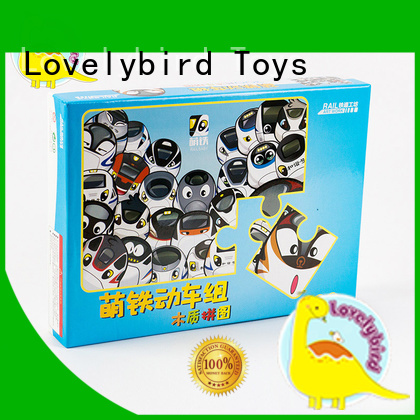 Lovelybird Toys educational disney wooden puzzles with poster for adult