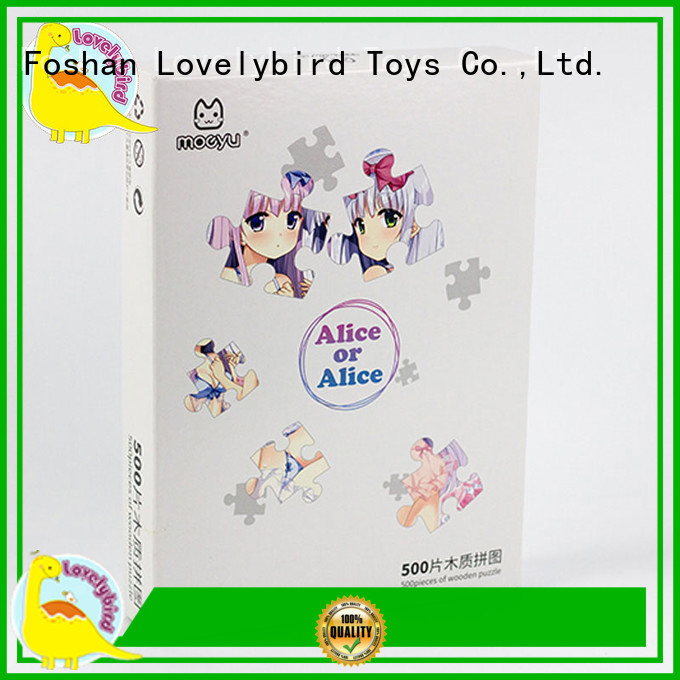 Lovelybird Toys hot sale personalized wooden puzzles toy for adult