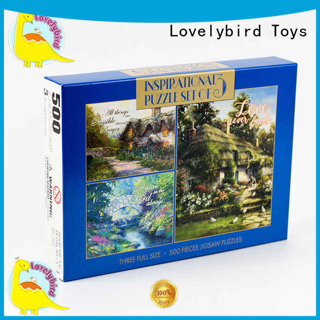 round 500 jigsaw puzzles wholesale for entertainment