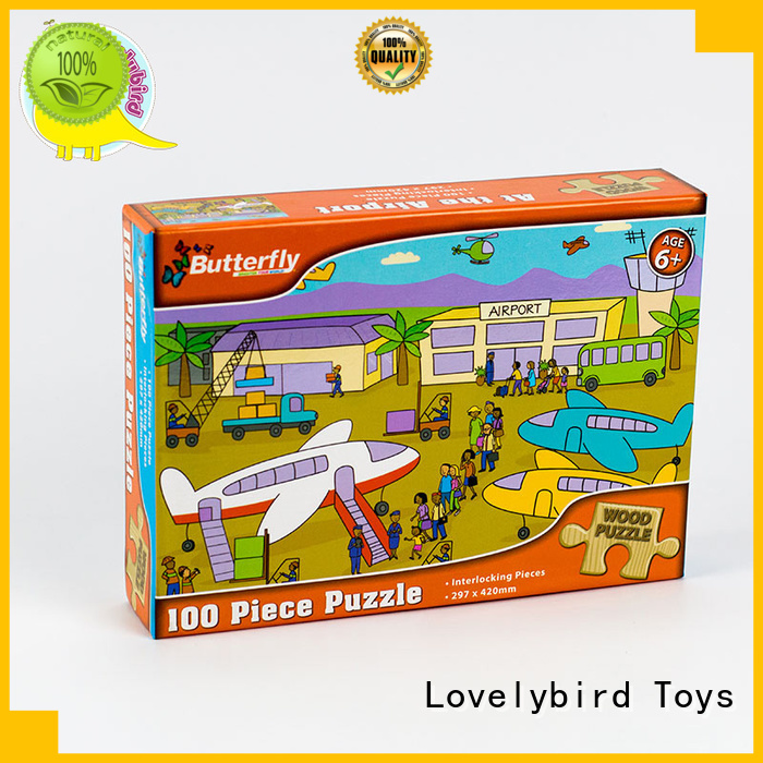 Lovelybird Toys lovely wooden jigsaw puzzles toy for entertainment