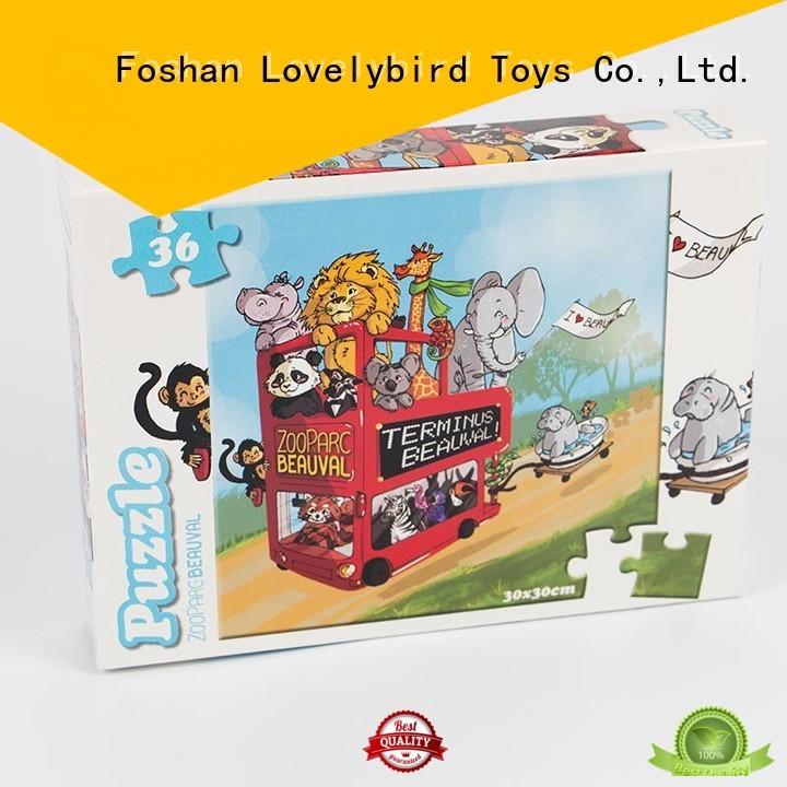 Lovelybird Toys funny cartoon jigsaw puzzles toy for sale