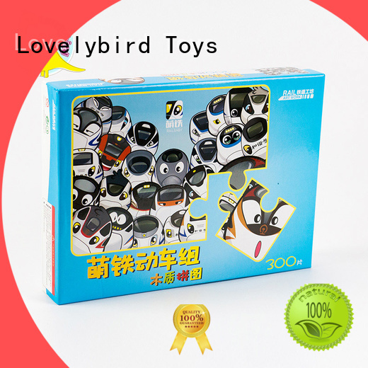 Lovelybird Toys hot sale childrens wooden puzzles with poster for entertainment