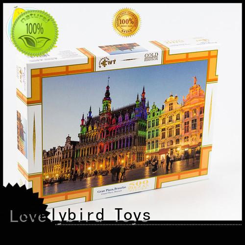 Lovelybird Toys lenticular jigsaw puzzles gratuits round kids