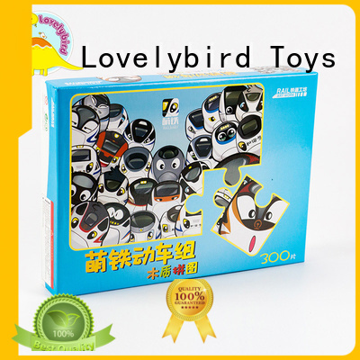 Lovelybird Toys wooden puzzles for toddlers with poster for kids