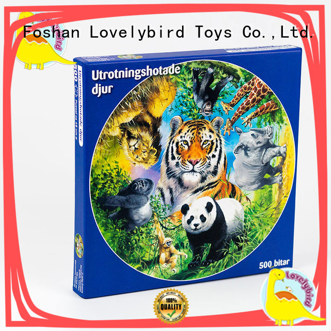 Lovelybird Toys popular 500 piece puzzles round for