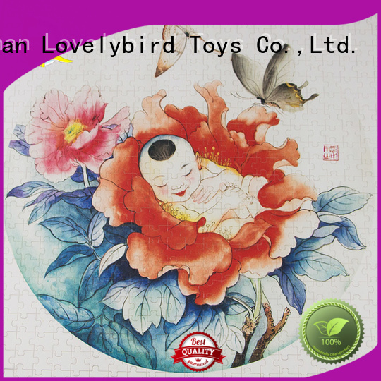 Lovelybird Toys wooden puzzles for toddlers with frame for kids