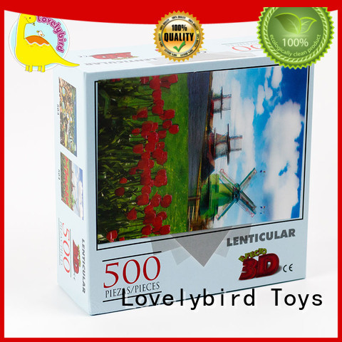 500pc Complete Lenticular  Jigsaw Puzzle