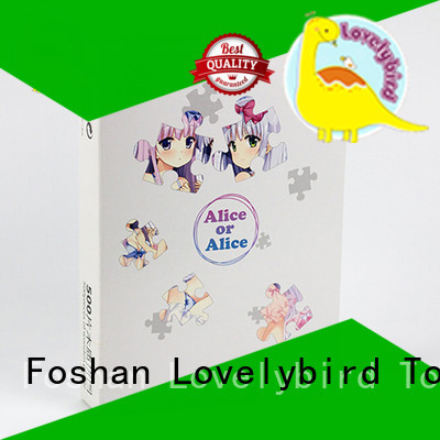 Custom 100pc educational poster  Lovelybird Toys wooden puzzle