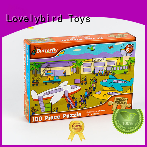 Lovelybird Toys high quality wooden jigsaw puzzles with poster for entertainment