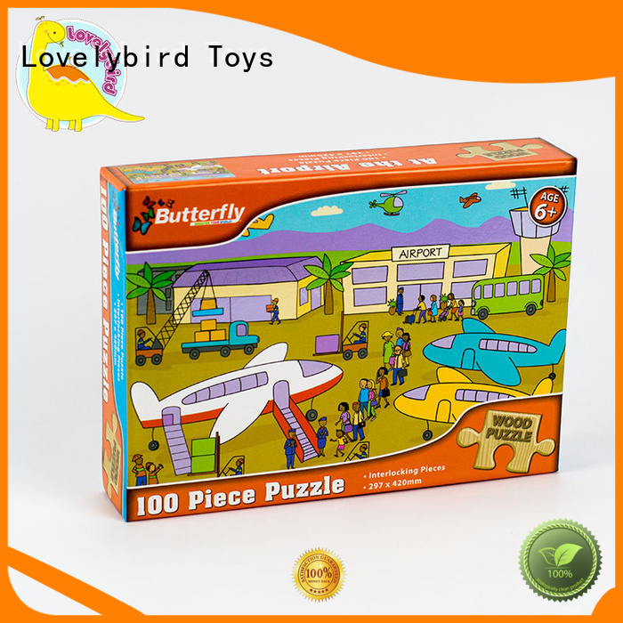 Lovelybird Toys all kinds childrens wooden puzzles with poster for sale