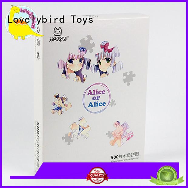 best wooden puzzles custom for Lovelybird Toys