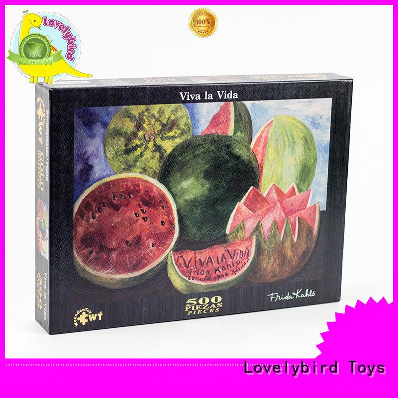 jigsaw popular  embossing Lovelybird Toys Brand