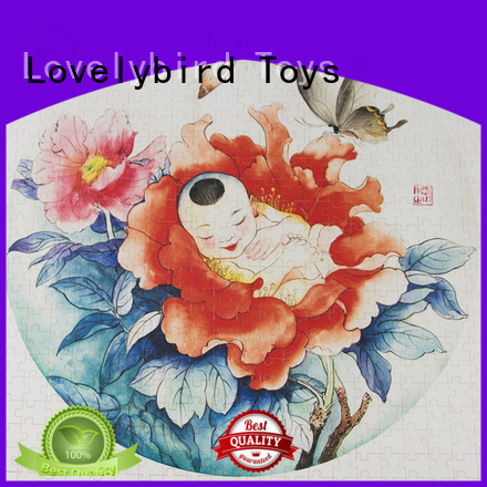 childrens wooden puzzles with poster for entertainment Lovelybird Toys