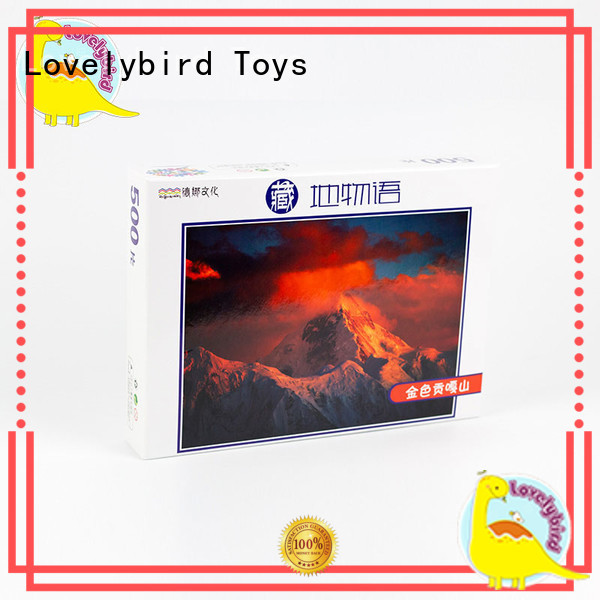 Lovelybird Toys educational wooden jigsaw puzzles with frame for sale