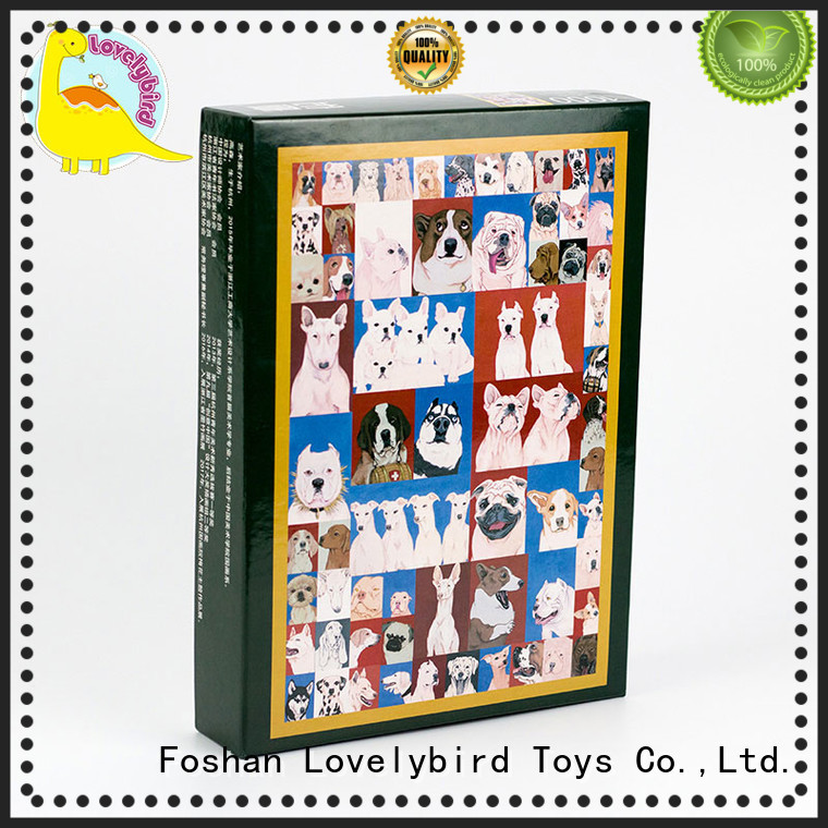 Lovelybird Toys wooden jigsaw puzzles for adults with frame for kids