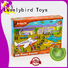educational wooden puzzles for toddlers with frame for kids