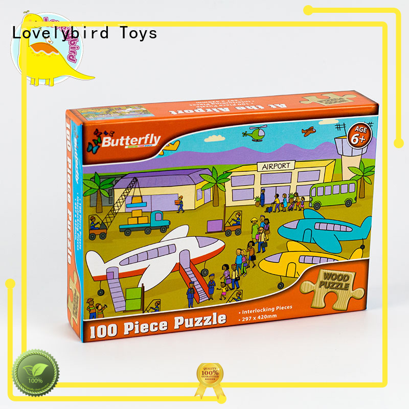 Lovelybird Toys high quality disney wooden puzzles toy for adult