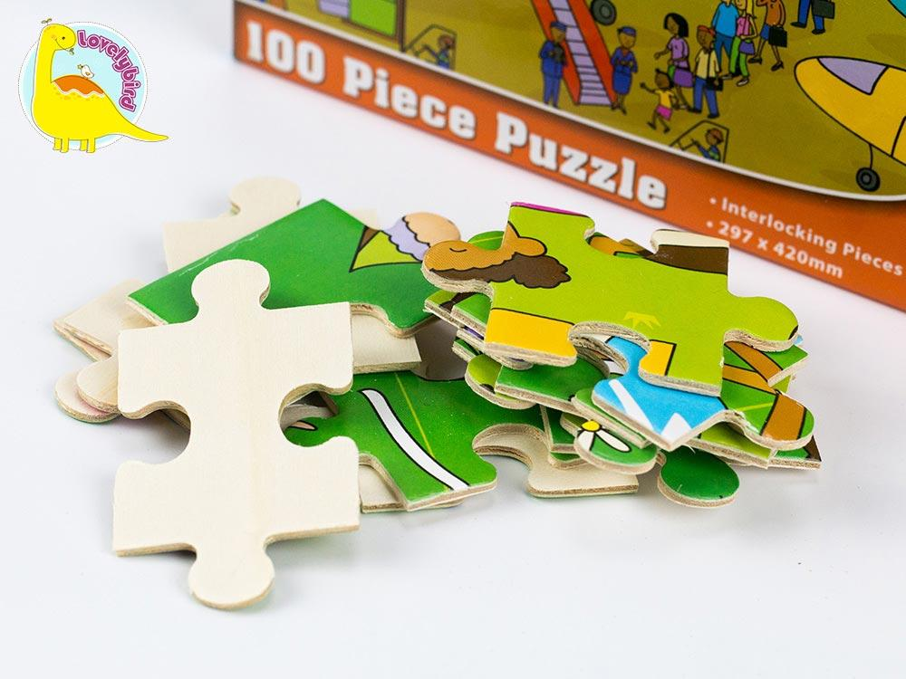 wooden puzzles for toddlers with poster for adult Lovelybird Toys-1