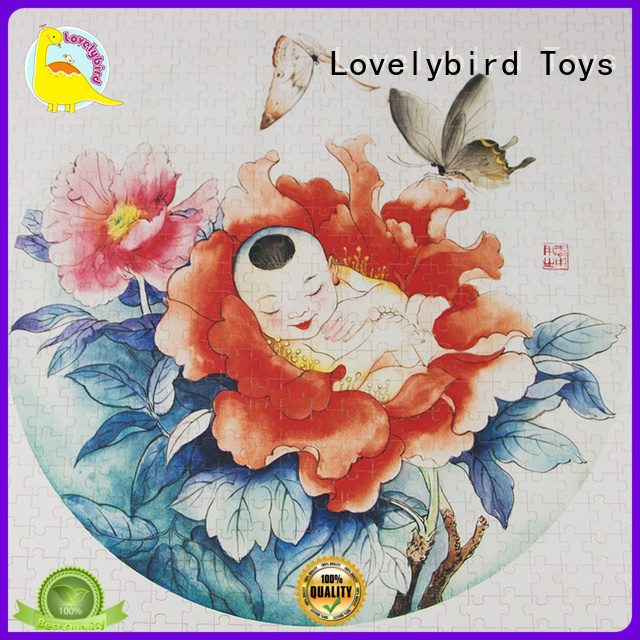 Lovelybird Toys educational personalised wooden puzzles with frame for adult