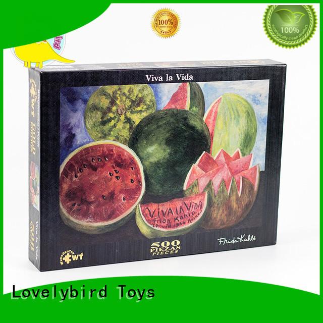 Lovelybird Toys jjgsaw 500 piece jigsaw puzzles puzzle kids