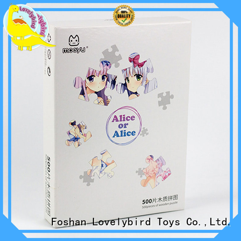 Lovelybird Toys wooden puzzles with poster for adult