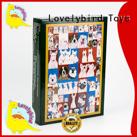 Lovelybird Toys finished simple wooden puzzles with poster for entertainment