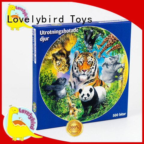 Lovelybird Toys embossing hardest jigsaw puzzle hot sale for kids