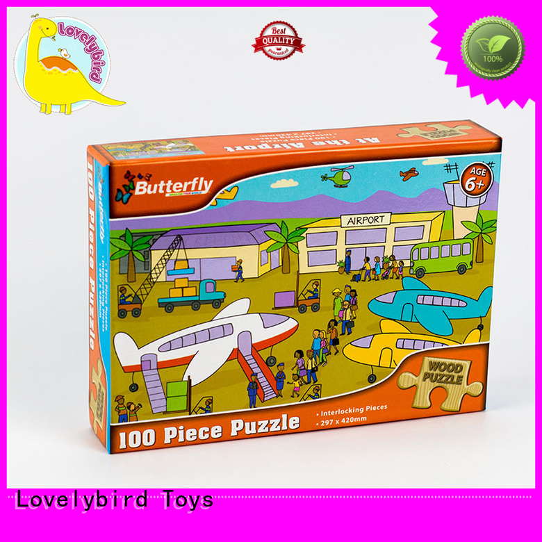 Lovelybird Toys poster personalized wooden puzzles frame kids