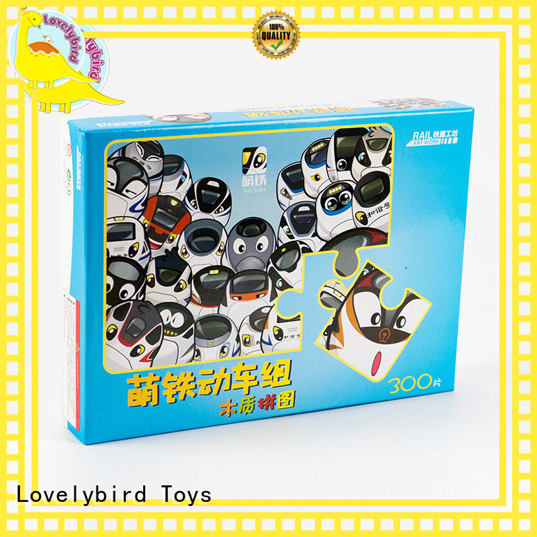 Lovelybird Toys wholesale wooden puzzles for toddlers with frame for kids