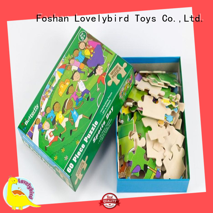 Lovelybird Toys wooden puzzles for adults with poster for entertainment