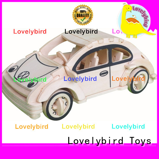 Lovelybird Toys high-quality 3d wooden car puzzle company for kids