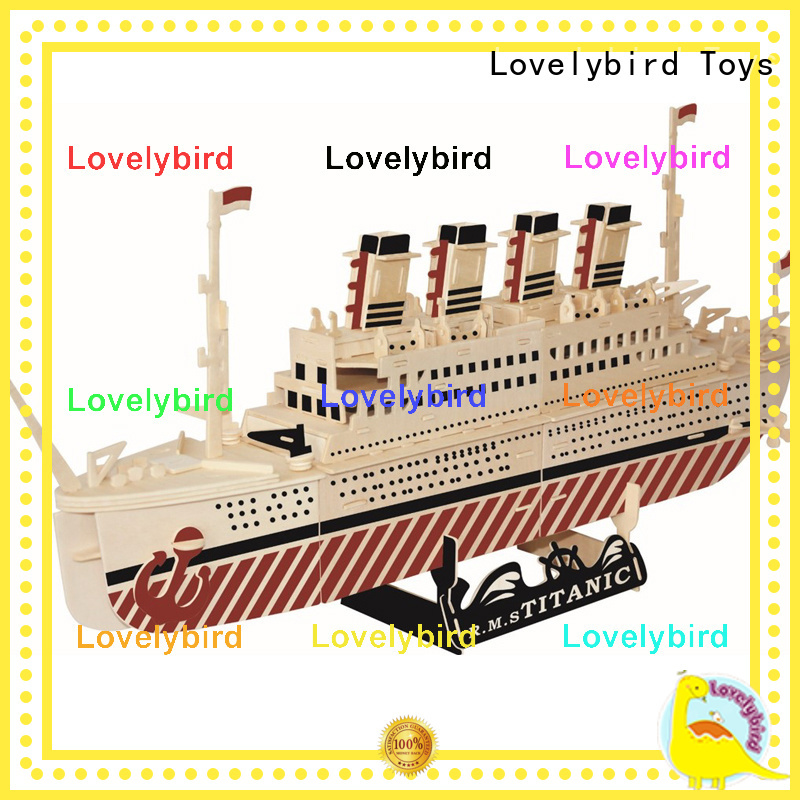 Lovelybird Toys 3d wooden puzzle car suppliers for sale