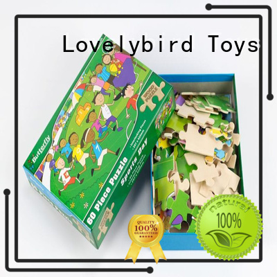 Lovelybird Toys high quality wooden puzzles for kids with frame for activities
