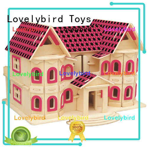 Lovelybird Toys 3d wooden house puzzles suppliers for kids