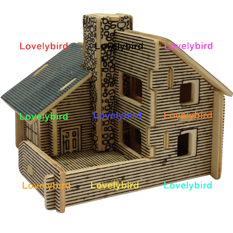 new 3d wooden house puzzles manufacturers for adults-1