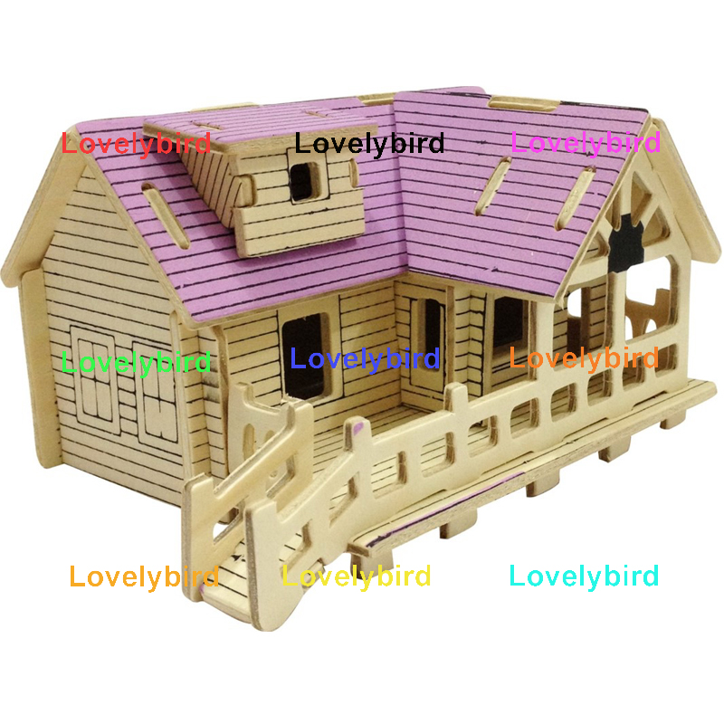 Lovelybird Toys 3d building puzzle factory for present-1