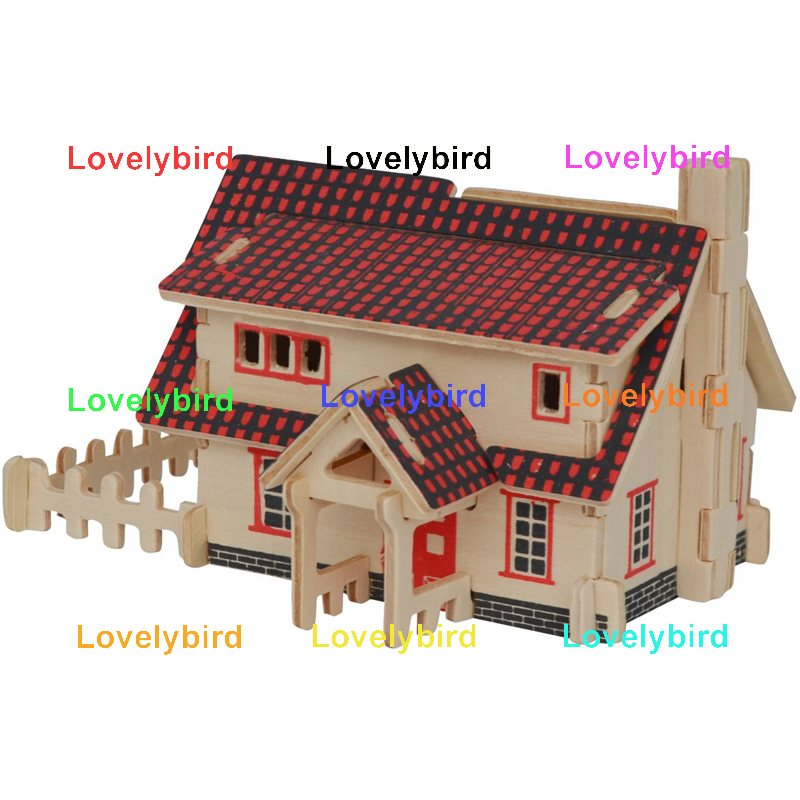 interesting 3d wooden puzzle house company for present-1