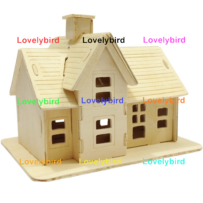 good selling 3d wooden house puzzles suppliers for present-1