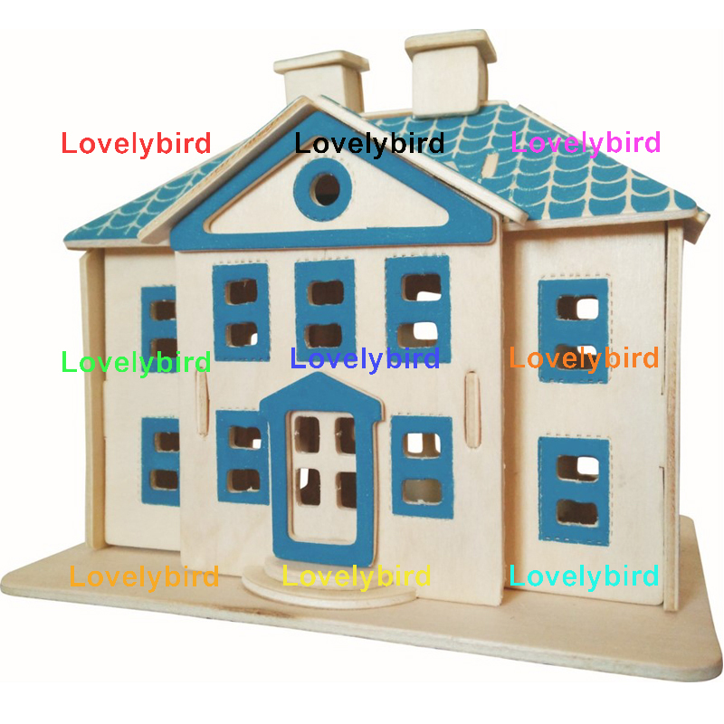 good selling 3d wooden puzzle house supply for adults-1