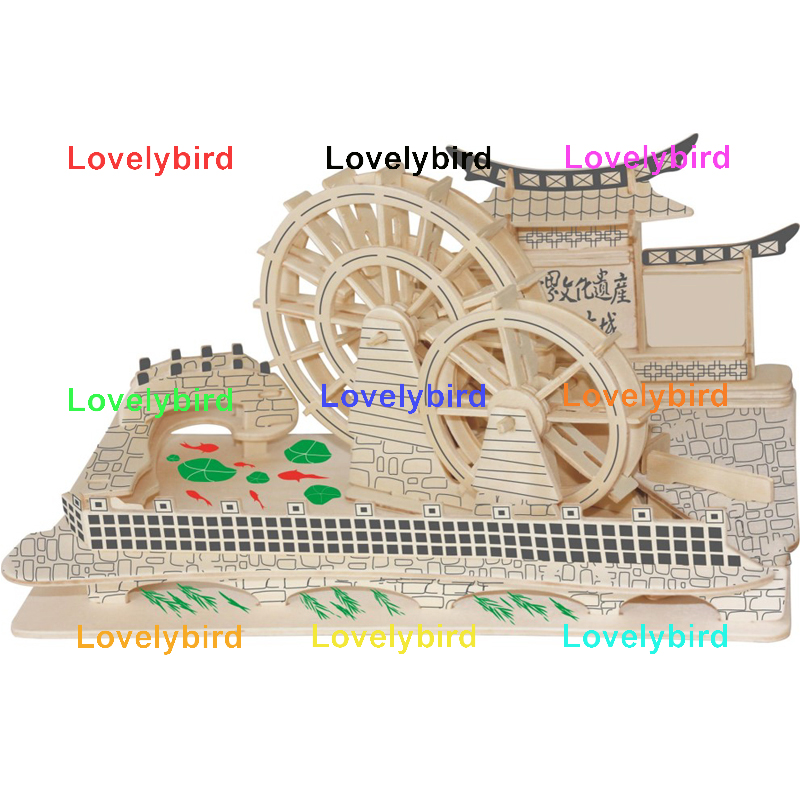 Lovelybird Toys 3d wooden puzzle house supply for sale-1