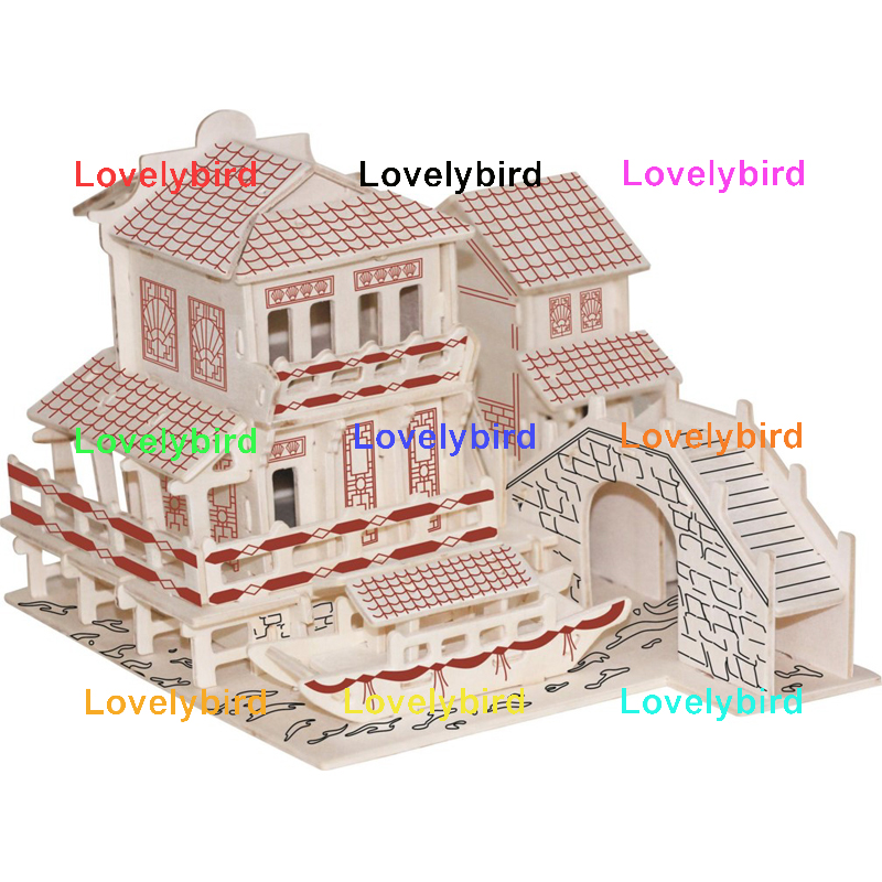 good selling 3d wooden house puzzles manufacturers for kids-1