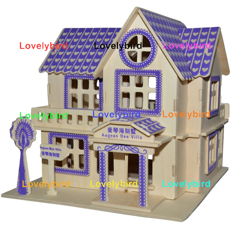 Lovelybird Toys 3d wooden puzzle house factory for adults-1