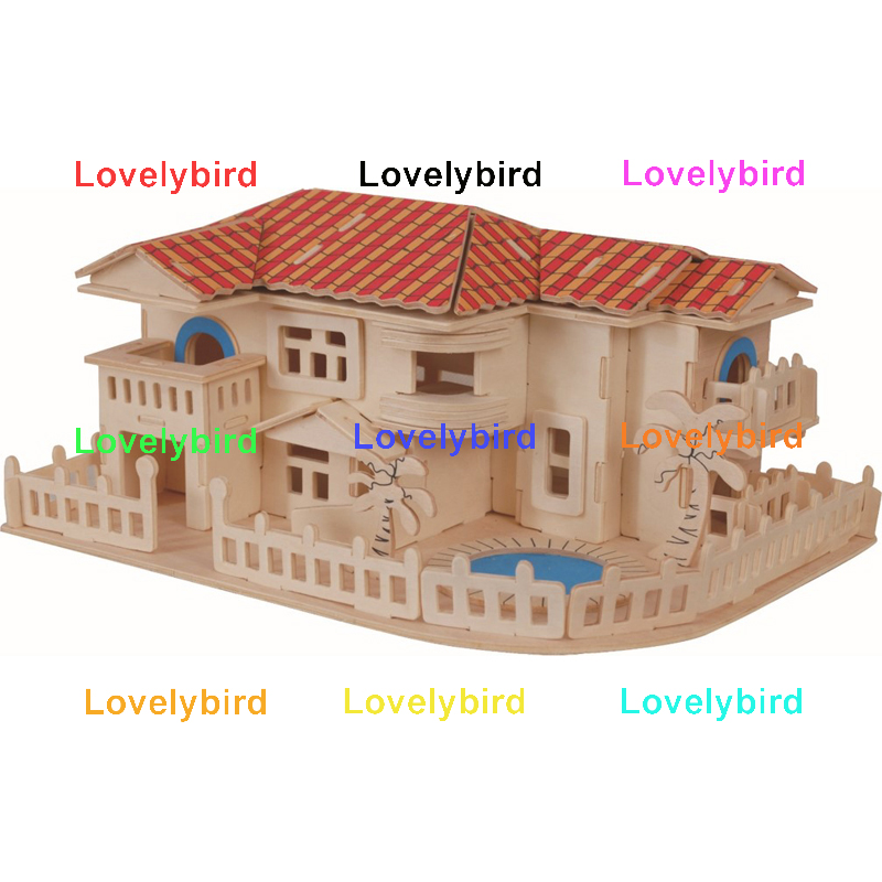 Lovelybird Toys 3d wooden house puzzles factory for sale-1