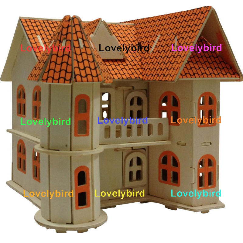 Lovelybird Toys 3d wooden house puzzles factory for kids-1