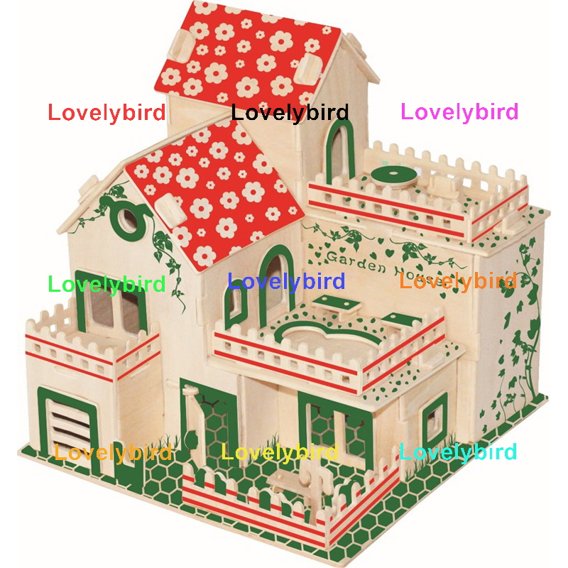 Lovelybird Toys latest 3d wooden puzzle house factory for adults-1