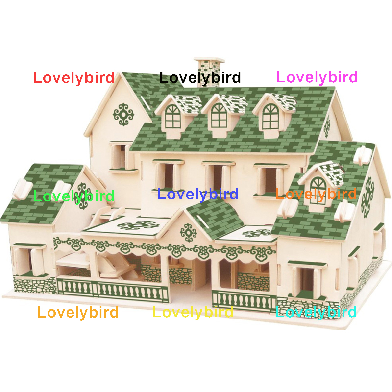 Lovelybird Toys hot sale 3d wooden puzzle house supply for business-1