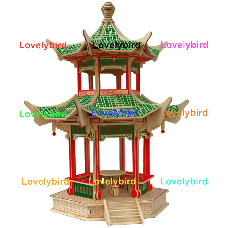 Lovelybird Toys 3d wooden puzzle house company for kids-1