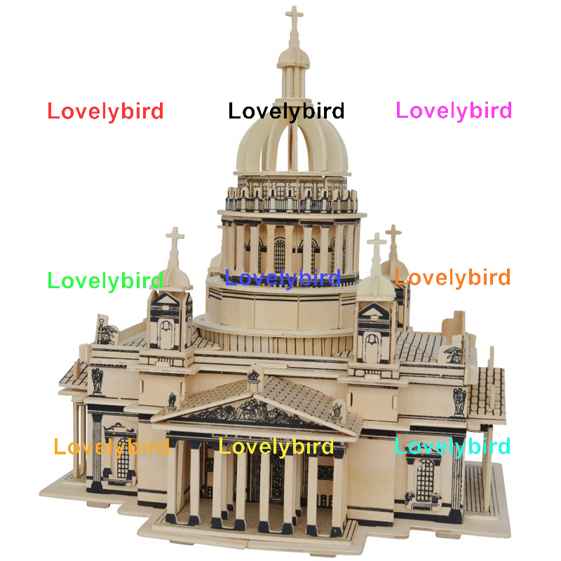 Lovelybird Toys new 3d wooden house puzzles supply for adults-1