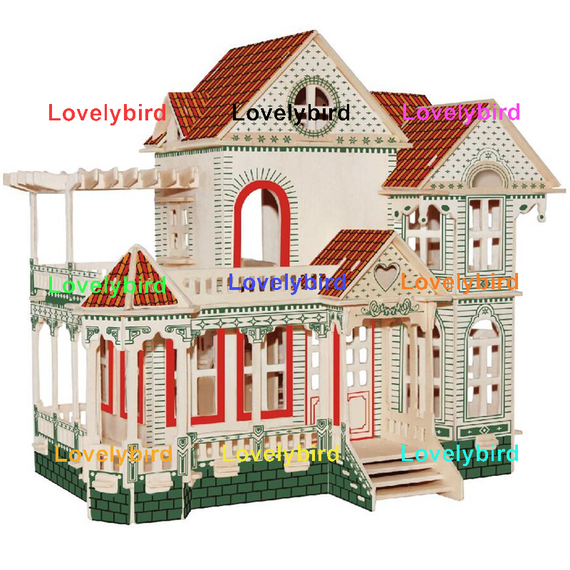 Lovelybird Toys 3d wooden puzzle house supply for adults-1
